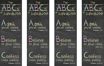 ABCs of Salvation Bookmarks