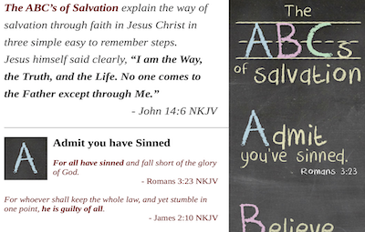 ABCs of Salvation Teaching Notes