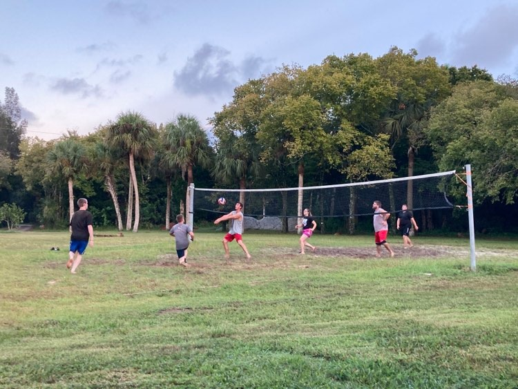 Volleyball with the students